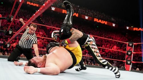 Rey Mysterio pinned Samoa Joe last week