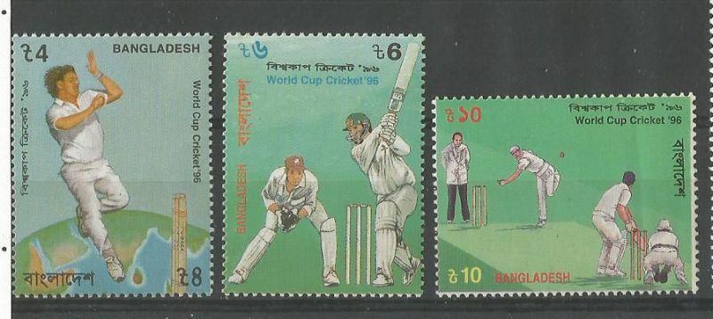 Stamps ofBangladesh on 1996 World cup.