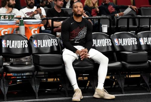 Damian Lillard has been struggling from the three-point line