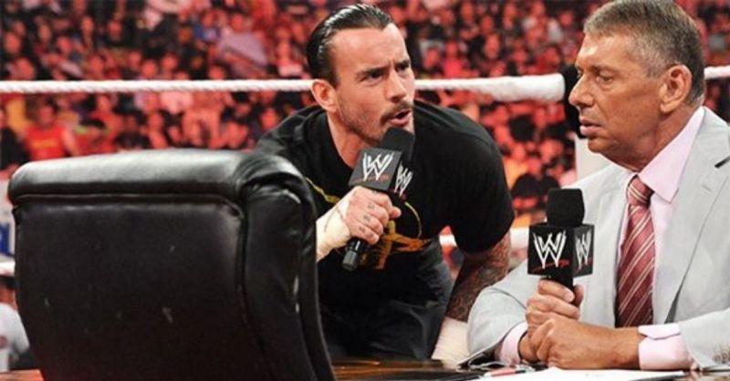 CM Punk and Vince McMahon