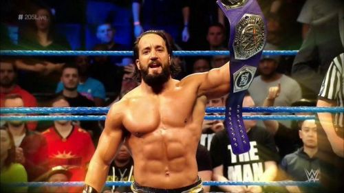 The Cruiserweight Champion was in action in tonight's main event