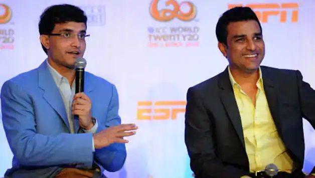 Sourav Ganguly and Sanjay Manjrekar
