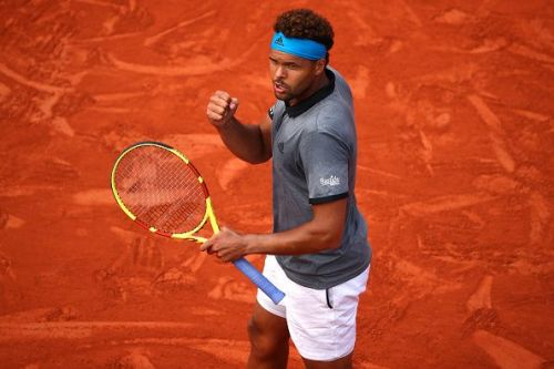 2019 French Open - Tsonga in action during his 1st round match