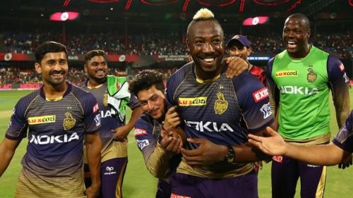 Kuldeep Yadav and Andre Russell - Image Courtesy (BCCI/IPLT20.com)