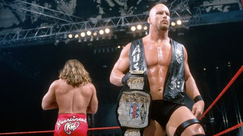 Stone Cold and Shawn Michaels during their brief run as tag-team champions