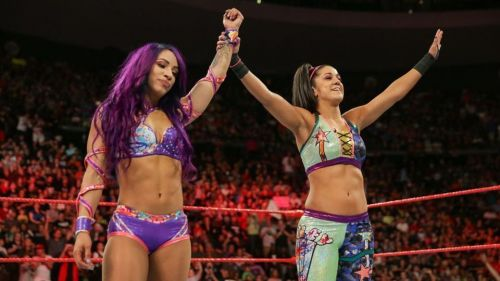 Sasha Banks and Bayley were the first Women's Tag Team champions