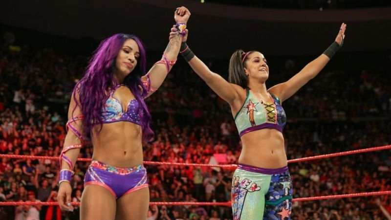 Sasha Banks and Bayley were the first Women