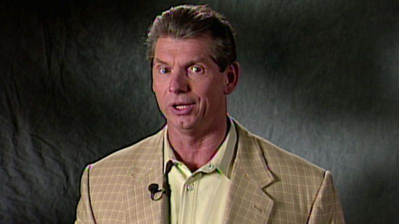 Vince McMahon announcing the birth of the Attitude Era