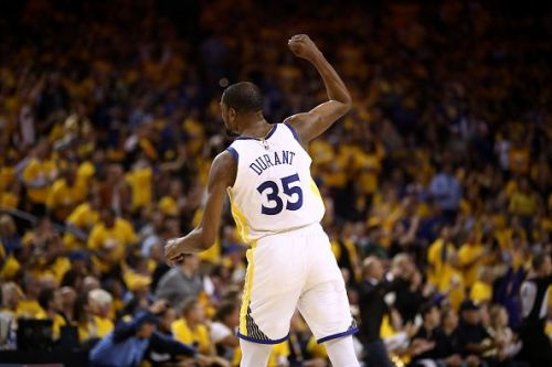 Kevin Durant will not be with the team for Game 6 due to a right calf strain suffered in Game 5