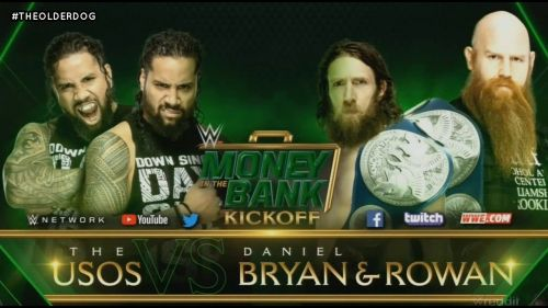 The Planet's tag team defend their titles against the Usos at MITB.