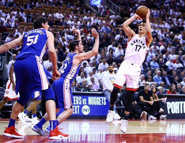 Image result for Philadelphia 76ers vs Toronto Raptors