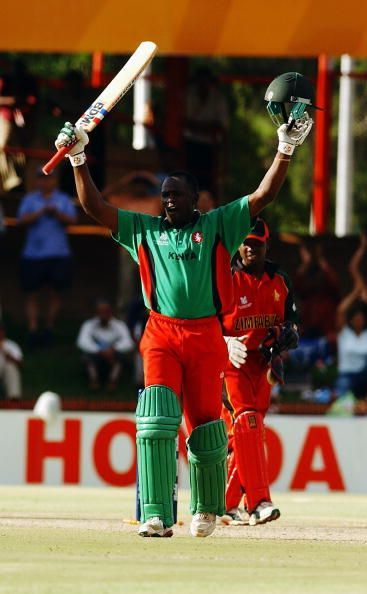Skipper Maurice Odumbe led minnows Kenya to a shock win over former champions West Indies.