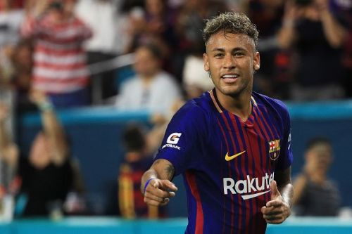 Neymar with his former team, FC Barcelona