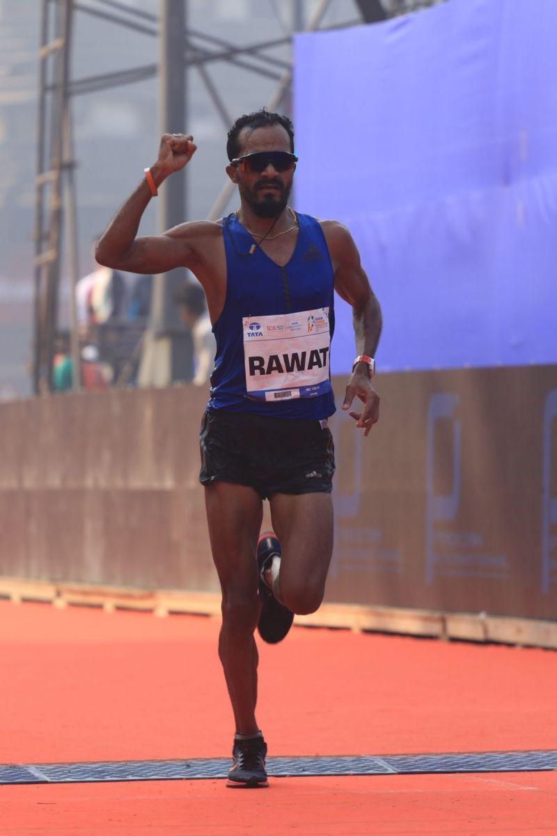 Nitendra Singh Rawat in action at Tata Mumbai Marathon 2019 Sudha Singh at Tata Mumbai Marathon 2019