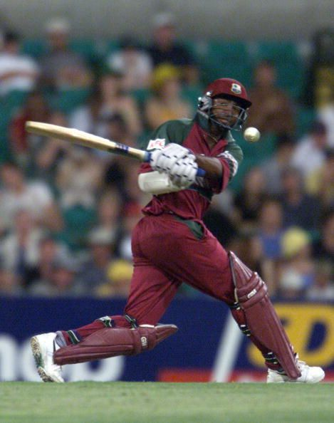 Superb century by Brian Lara knocked out the hitherto unbeaten Proteas.