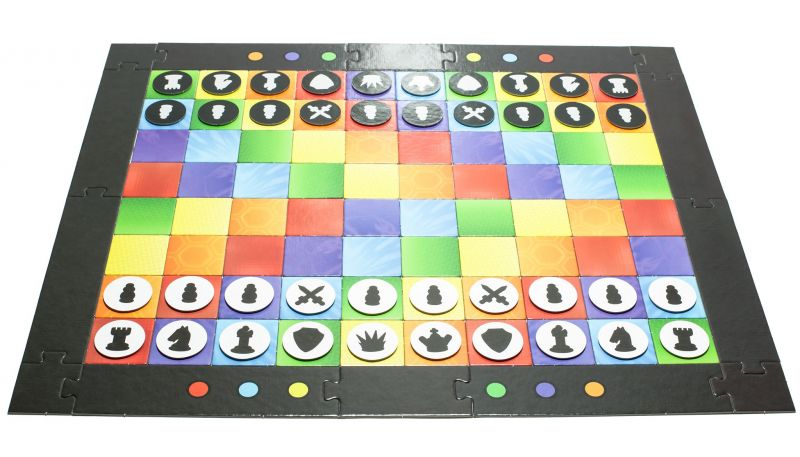 Colour Chess Board. Don