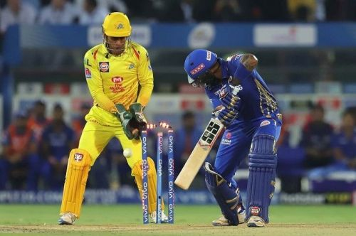 MSD is still lightning quick behind the stumps (Image Courtesy: BCCI/IPLT20.COM)