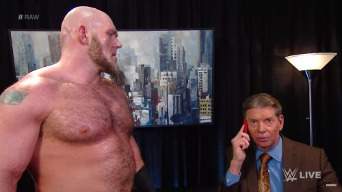 Lars and Vince in a backstage segment
