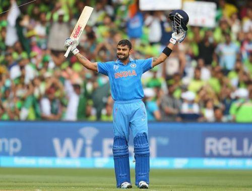 Virat Kohli scored a match-winning 107 (126) in the tournament opener against Pakistan in 2015