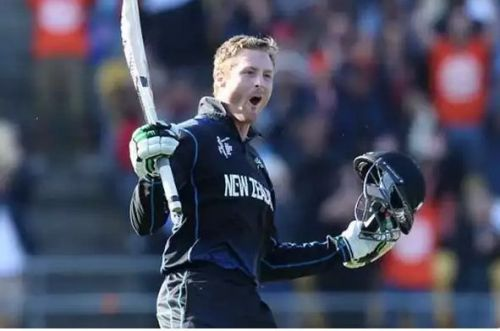 Martin Guptill's 237 flattens the West Indies in the quarterfinals of the ICC world cup.
