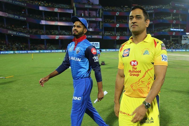 Shreyas Iyer and MS Dhoni (Image courtesy:iplt20.com