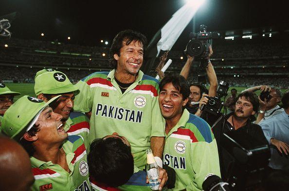 Pakistan Captain Imran Khan at the1992 Cricket World Cup Final
