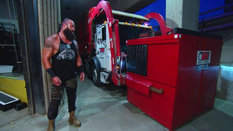 Why was Sami Zayn put in a garbage truck on Monday Night Raw