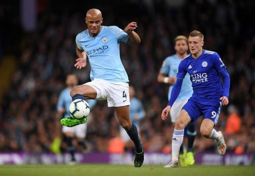 Vincent Kompany scored a decisive goal in the title race against Leicester City