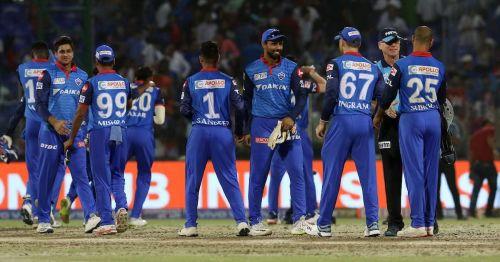 IPL 2019: Delhi Capitals celebrating