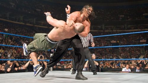 Khali flattened Cena at Saturday Night's Main Event in the opening match of the show.