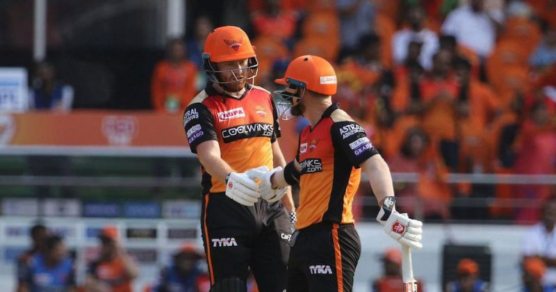 Jonny Bairstow and David Warner against RCB) Give feedback IPL 2019 David Warner Andre Russel
