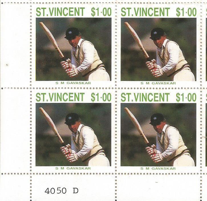STamp on Sunil Gavaskar. .