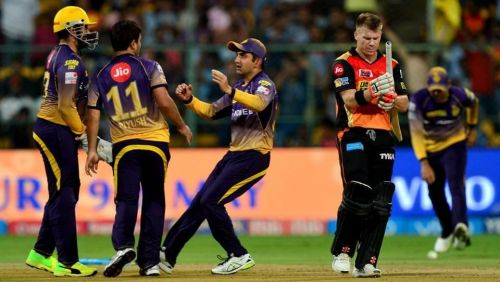 KKR beat SRH by 7 wickets in the eliminator in 2017 ipl
