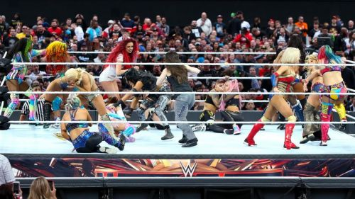 Maria Kanellis returned to action in the WrestleMania Battle Royal!