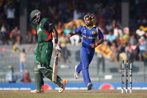 Mesmeric Malinga shot through under the bat with amazing precision.