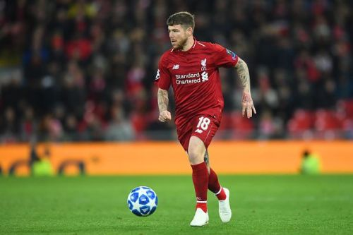 Moreno on a rare appearance during Liverpool's Champions League group stage fixture