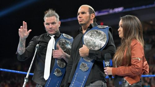 The Hardy Boyz, unfortunately, had to relinquish the SD Live Tag Team Titles