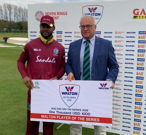 Shai Hope was West Indies' standout batsman with 470 runs