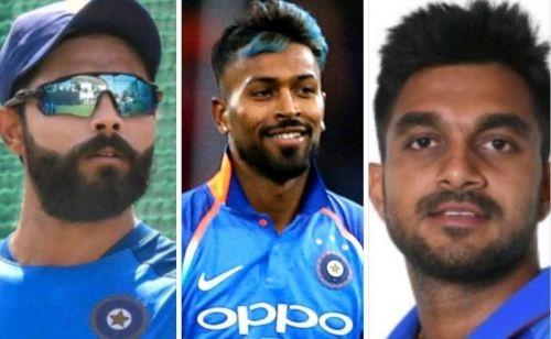 Jadeja, Pandya and Vijay Shankar