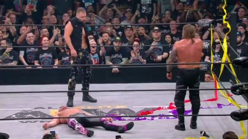 Jon Moxley attacked Omega and Jericho after the main event ended