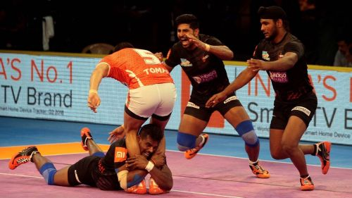 U Mumba broke the record of scoring the most tackle points in a season