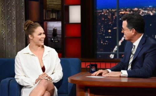 Ronda tells all to Stephen Colbert