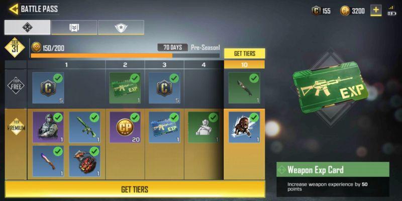 Battle pass in COD Mobile Legends of War