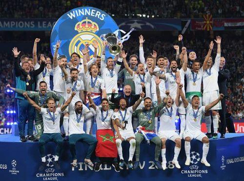 Real Madrid won three consecutive Champions Leagues between 2015/16-2017/18