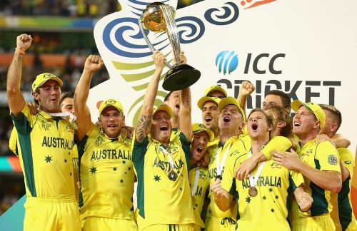 The victorious Australian team