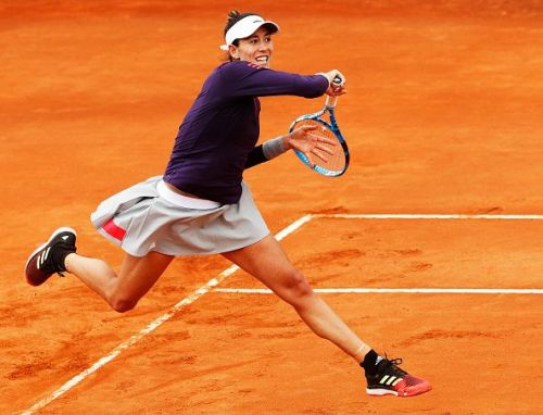 Garbine Muguruza opened her day with a tough win against Danielle Collins at the International BNL d'Italia