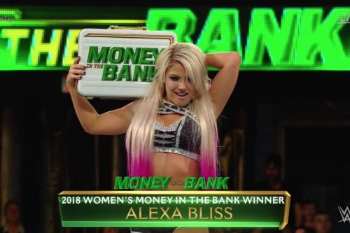 Alexa Bliss cashed in her Money in the Bank contract last year