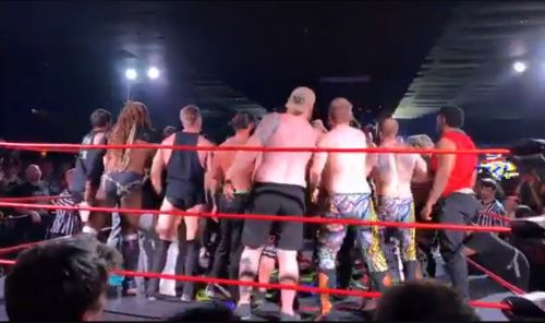 A brawl broke out after the attack