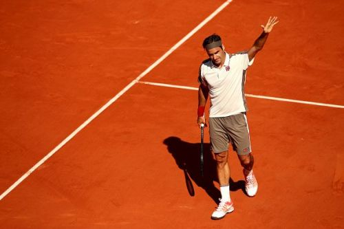 Federer beat Casper Ruud in style, at the 2019 French Open