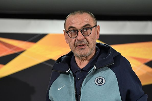 Maurizio Sarri could be on his way out of Stamford Bridge after a solitary season with the Blues.